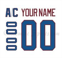 Colorado Avalanche Customized Number Kit for 2020-2021 Reverse Retro Jersey