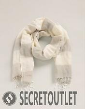 Esprit New Ladies Women Light Beige Woven Scarf with Long Fringes RP£29