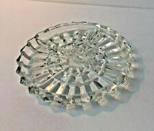 Glass Crystal Decorative Dish Plate Divided Trash Relish Tri Separation