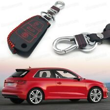 Car Remote Control Key Case Bag Cover Holder Leather for Audi A3 / S3 2011-2017