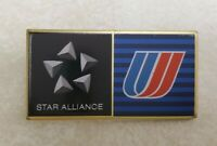 Vintage United Airlines Star Alliance Flight Attendant Pinback Lapel Pin