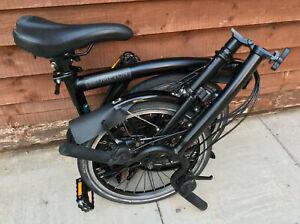 BROMPTON H6L BLACK EDITION 6 SPEED FOLDING BIKE BICYCYCLE WORLDWIDE POSTAGE