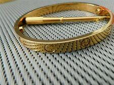 Cartier LOVE Bracelet, yellow Gold Bangle, size 16, Unworn, In box