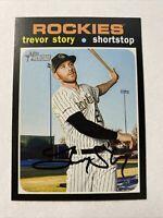2020 Topps Heritage Baseball Trevor Story Colorado Rockies Card #350