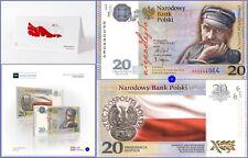 """POLAND / POLEN 20 ZL. 2018 *INDEPENDENCE-UNABHÃ""""NGIGKEIT* Banknote + Folder UNC"""