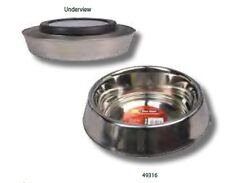 Pet One P1-49316 Anti Ant, Anti Tip Stainless Steel Bowl 700mL for Medium Dogs