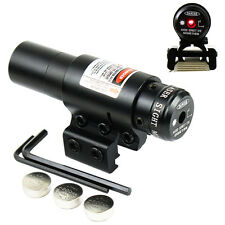 Adjustable Hunting Mini Red Dot Laser Sight w/ Mount for 20mm/11mm Rail Mount