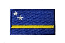 Curacao Country Flag Iron-On Patch Crest Badge 1.5 X 2.5 Inch.New