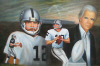 """""""The Snake"""" Kenny Stabler  Lithograph, 18x12, signed. Holiday Special Price!!!"""