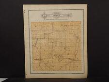 Wisconsin Fond Du Lac Couny Map Oseola Township 1910 J11#36