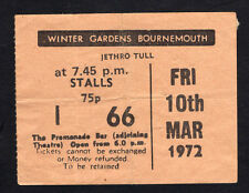 1972 Jethro Tull Tir Na Nog concert ticket stub Bournemouth UK Thick As A Brick