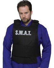 ADULT MENS SWAT TEAM VEST POLICE OFFICER COP POLICEMAN AGENT COSTUME VEST BLACK