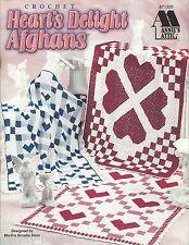 Heart's Delight Afghans Martha Brooks Granny Square Quilt Crochet Patterns NEW