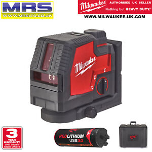 MILWAUKEE L4CLL-301C GREEN CROSS LASER LEVEL - L4 3AH BATTERY L4CLL - 4933478243