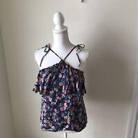 Rebecca Taylor Tea Rose Tank Women's Size 6 NWT $275 Multi Color Sleeveless Top