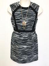 MARCS black white woven check pattern dress sz 12 sleeveless, has pockets
