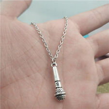 Microphone silver Necklace pendants fashion jewelry accessory,creative Gifts