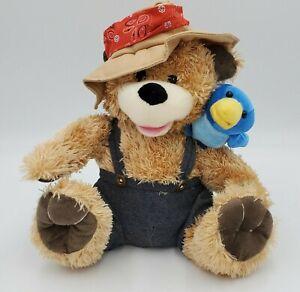 Zip A Dee Doo Dah Singing Bear w/Bluebird on Shoulder Pete & Tweet Duet Works