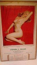 REDUCED!!!  MARILYN MONROE original 1954 calendar