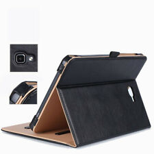 """Real Genuine Leather Case Smart Cover For Samsung Galaxy Tab A 10.1"""" SM-T580"""