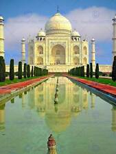 CULTURAL LANSCAPE TAJ MAHAL AGRA INDIA REFLECT POSTER ART PRINT PICTURE BB839B