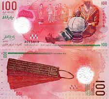 MALDIVES 100 Rufiyaa Banknote World Money Currency BILL Asia Note 2015