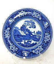 "Wedgwood Fallow Deer - 8-1/4"" Salad Plate - Blue White - England"