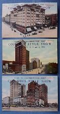 3 Postcards from Columbus Style Show in 1913 - Columbus, Ohio
