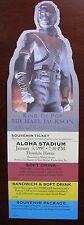 "Original Michael Jackson ""History World Tour"" Souvenir Ticket at Aloha Stadium"