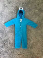 Sesame Street Cookie Monster Pajama Costume One Piece Outfit Size 2T