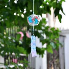 Japanese Style Glass Wind Chime Hanging Lucky Bell Home Decor Butterflies