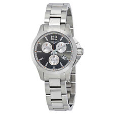 Longines Conquest Silver Dial Mens Chronograph Watch L33794796