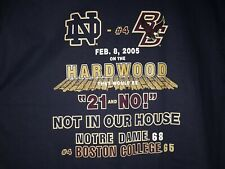 Notre Dame Fighting Irish vs. Boston College Eagles Hoops 2•8•05 Men's T-Shirt L