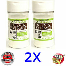 2x Trader Joe's @ Organic Stevia Extract Vegan Calory Free @ 2x 1oz/28.35g