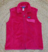 Patagonia Vest Re-tool Women's Size Large Full Zip Front Pockets Fleece L Pink