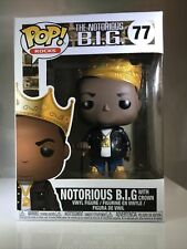 Funko Pop! Rocks: The Notorious B.I.G. with Crown(77) - New - double boxed