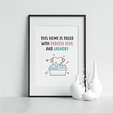 More details for utility room print this home is filled with laundry quote framed wall art