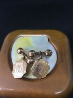 ANTIQUE GOLD VINTAGE BARREL CUFF LINKS
