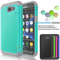 For Samsung Galaxy J3 Luna Pro Armor Shockproof Rugged Rubber Hard Case Cover