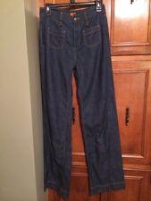 New Women's BCBGeneration Light Weight Wide Leg Jeans Dark Wash Size 27