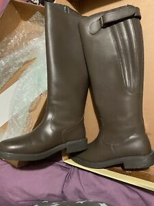 Brand New Harry Horse Finlay Genuine Leather Riding Boots, Size 4 1/2 Brown.