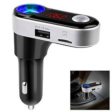 Bluetooth Car Kit FM Transmitter MP3 Player Dual USB Charger For Samsung S7 Edge