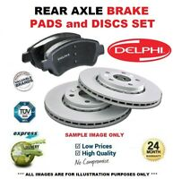 Delphi Rear Axle BRAKE DISCS + PADS for RENAULT MEGANE Hatch 2.0 TCe 2012->on