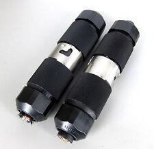 HUBBELL 50A 250V 3Ø 4 Wire TWIST LOCK PLUG PAIRS CS-8365L & CS-8364L LOT OF 2