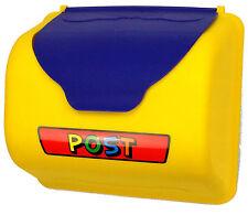 Briefkasten für Spielturm gelb blau Post Spielhaus Postkasten Baumhaus Briefe