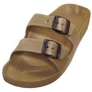 New Men's Summer EVA Rubber Lightweight Double Slide Flat Beach Sandal Slipper