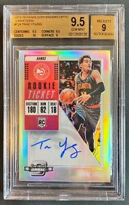 2018 Panini Contenders Optic Trae Young Auto RC BGS 9.5 Gem Mint With 10 Auto 9!