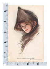 Harrison Fisher Postcard R&N 200 And Yet Her Eyes Can Look Wise Beautiful Woman