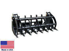 GRAPPLE BUCKET Commercial - for all Skid Steers - Logs, Brush & Rocks - 7 Ft