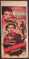 Locandina OKINAWA 1951 RARA!!! RICHARD WIDMARK, WALTER (JACK) PALANCE